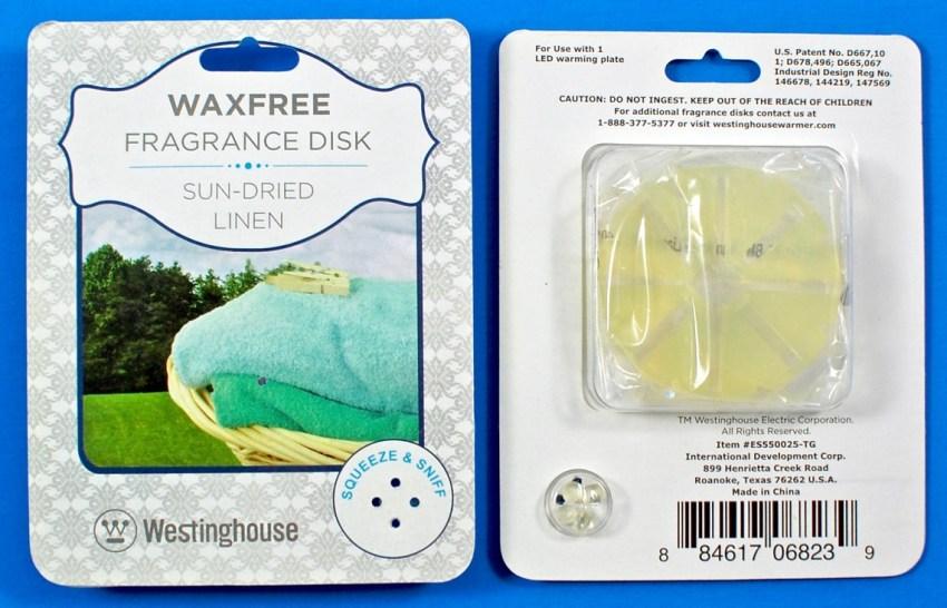Waxfree fragrance oil disks