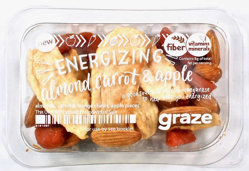Graze almond carrot apple