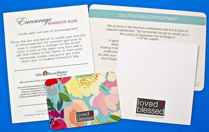 Loved + Blessed encouragement kit