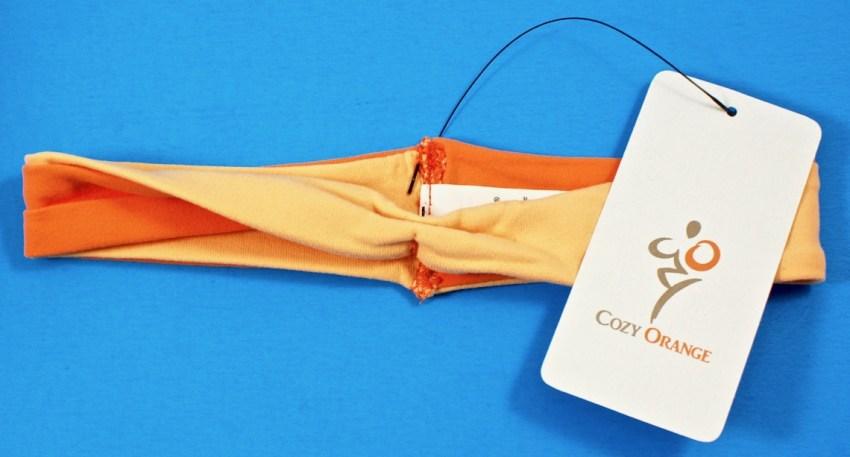 Cozy Orange twisted headband