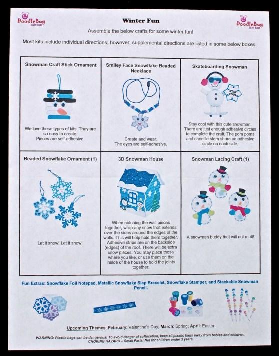 Doodlebug Busy Bag winter crafts