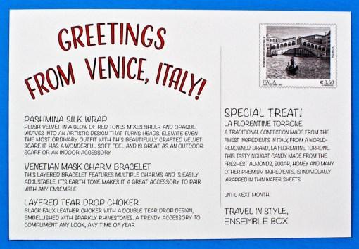 Ensemble Box Italy review