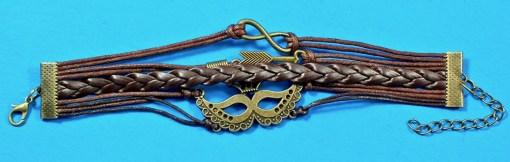 Venetian mask charm bracelet