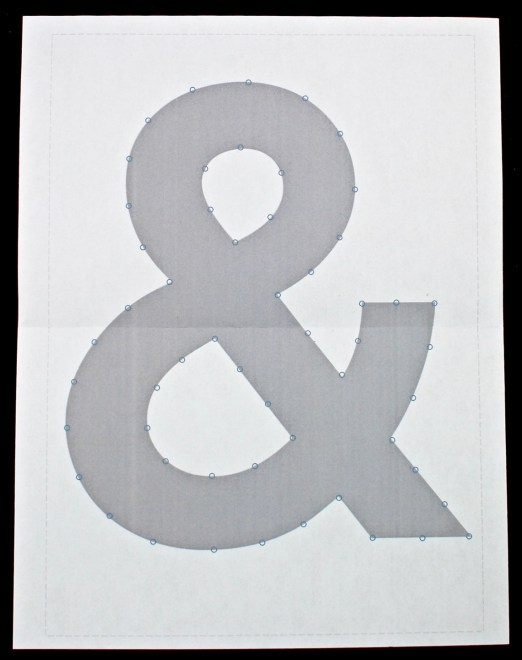 ampersand string art template