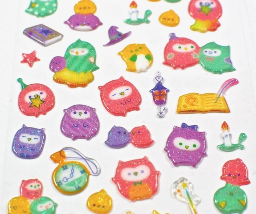 puffy glitter stickers