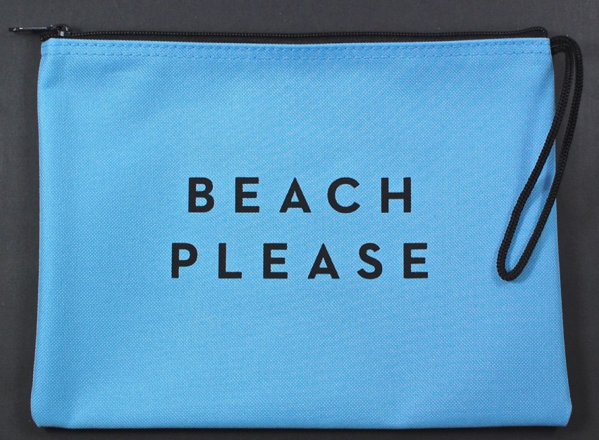 Beach Please zip pouch