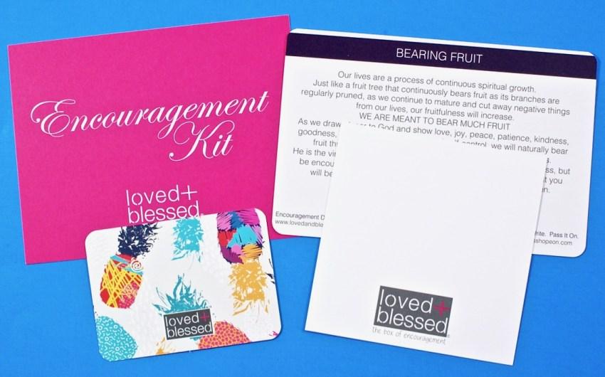 Loved + Blessed encouragement kit