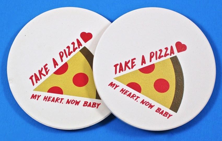 pizza coasters