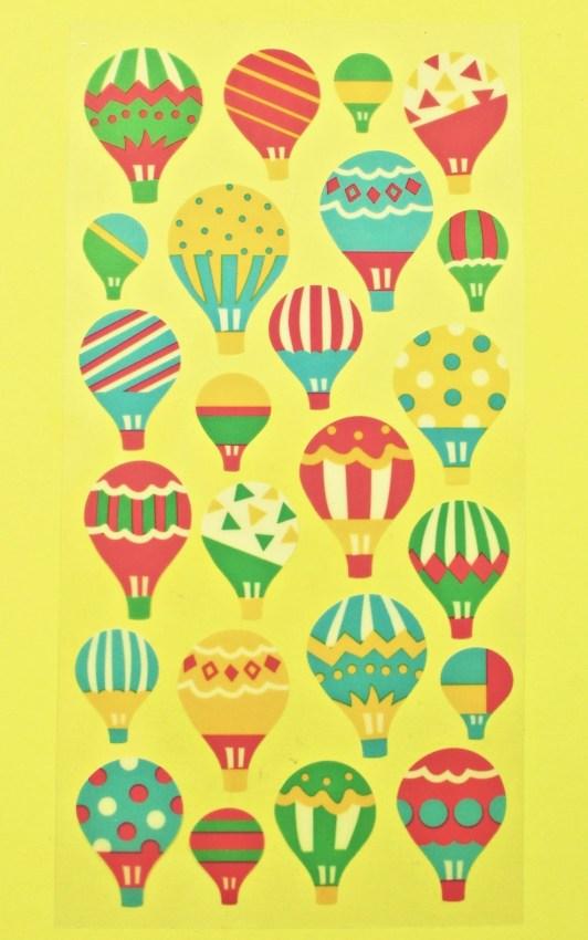 hot air balloon stickers