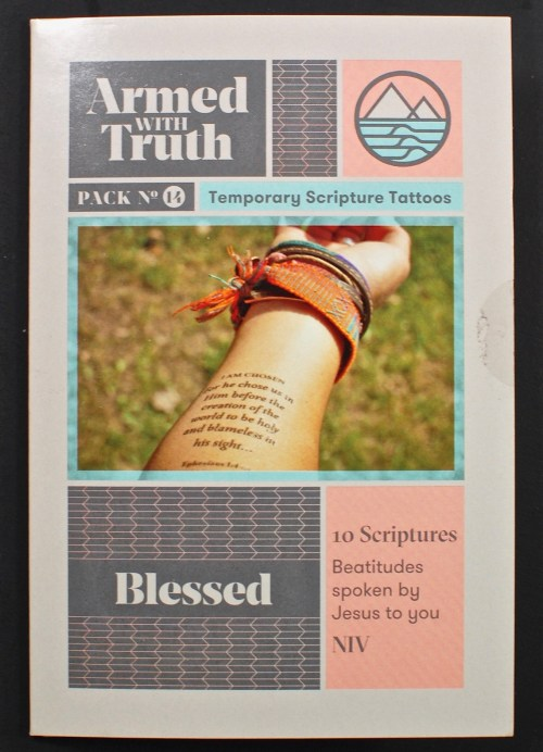 Scripture temporary tattoos