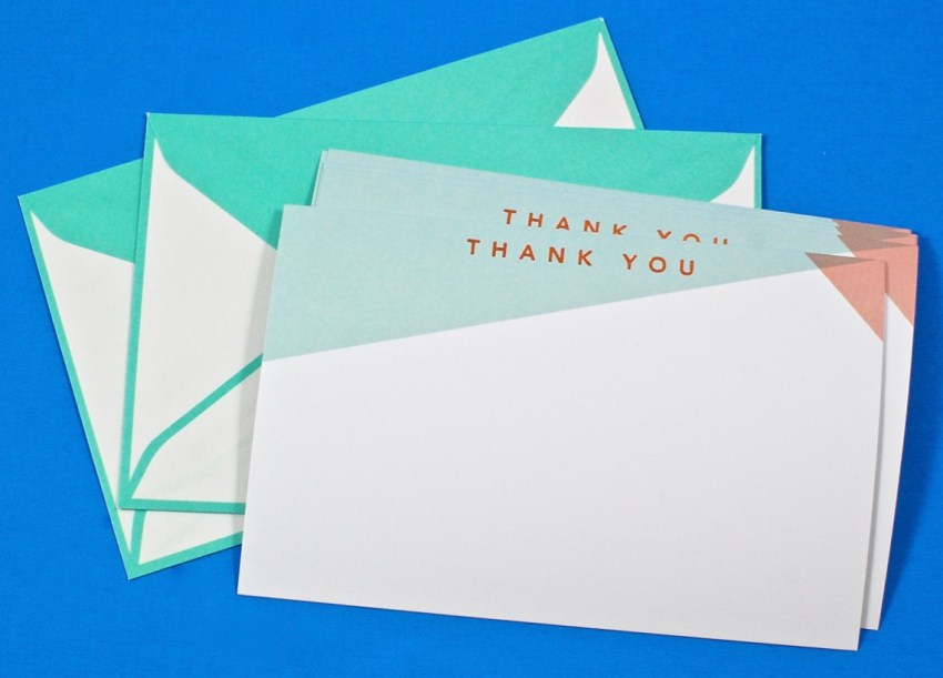 thank you note set