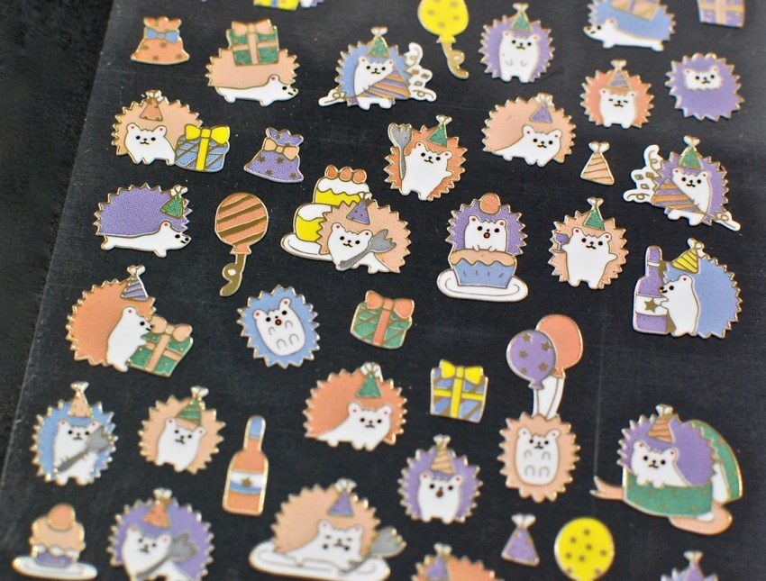 hedgehog stickers