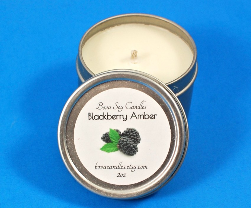 blackberry amber candle