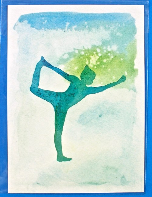Happy Yogi watercolor