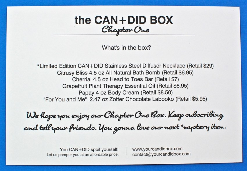 candid box review