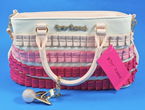 Betsey Johnson Pleats & Thank You bag