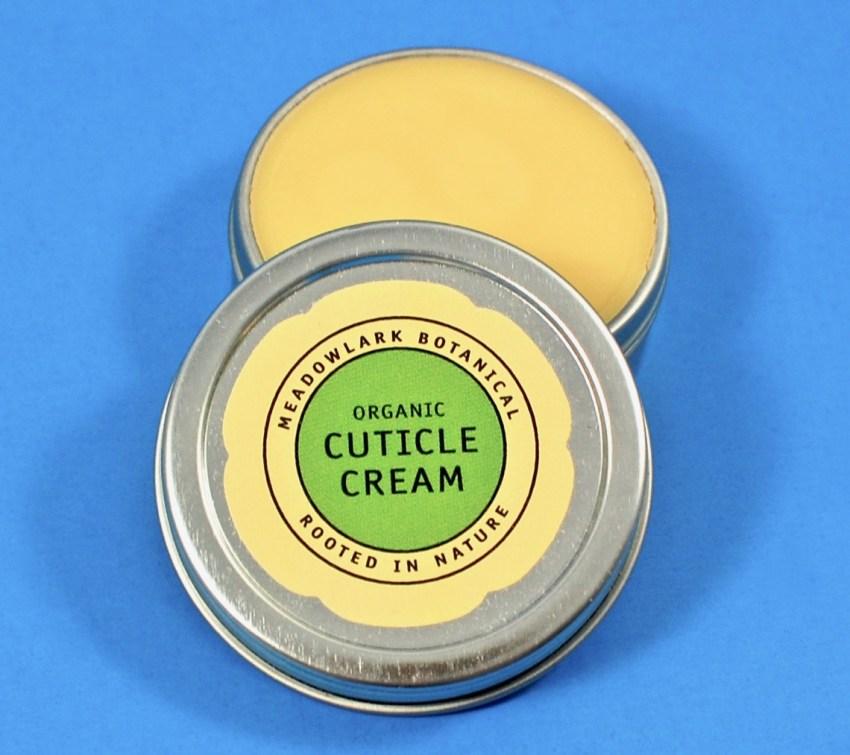 Organic cuticle cream