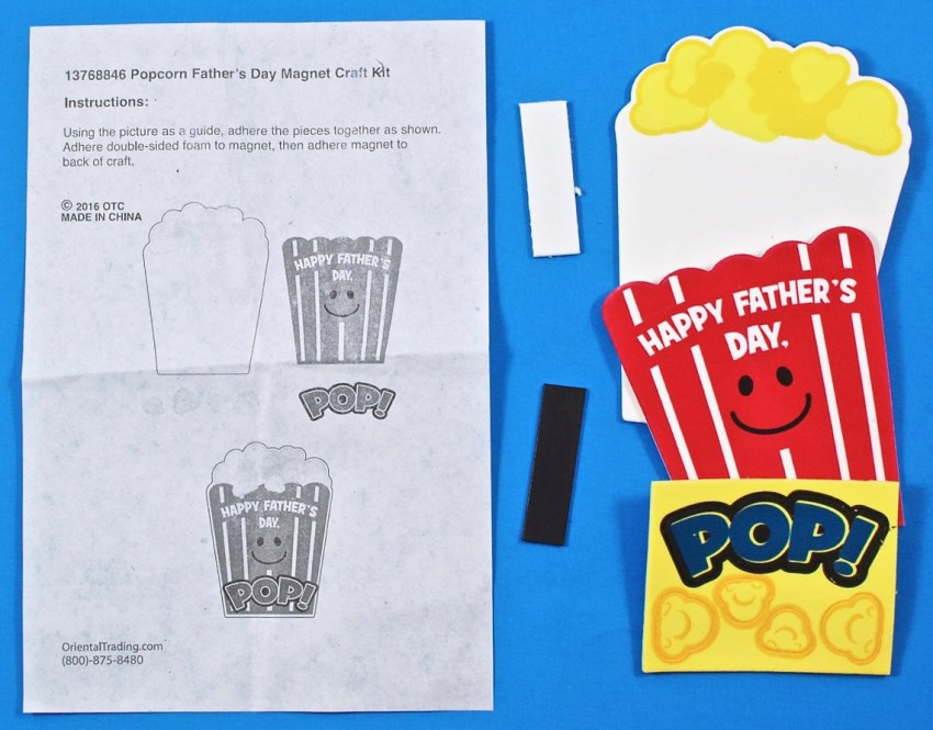 popcorn magnet craft