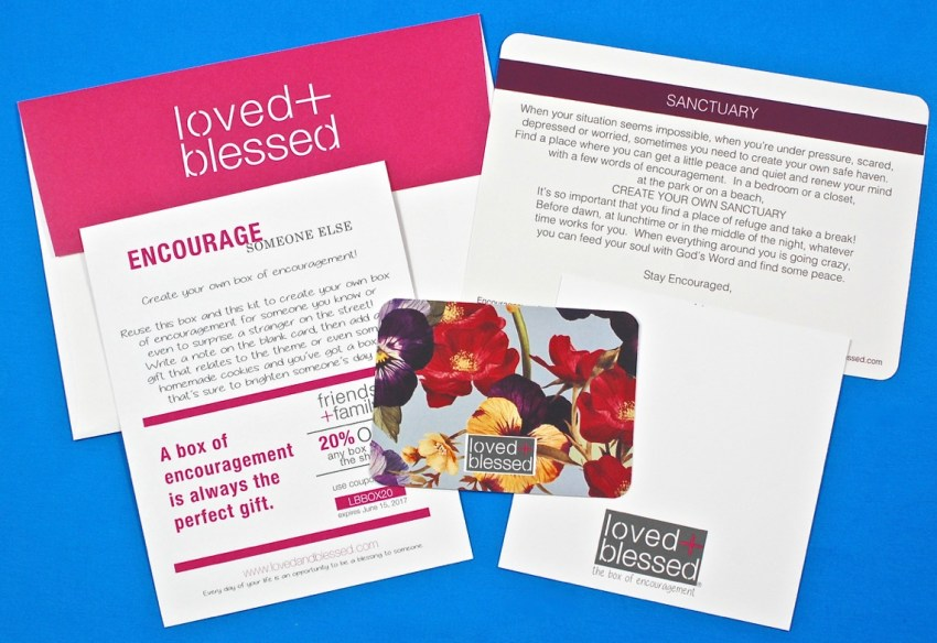 Loved and Blessed encouragement kit