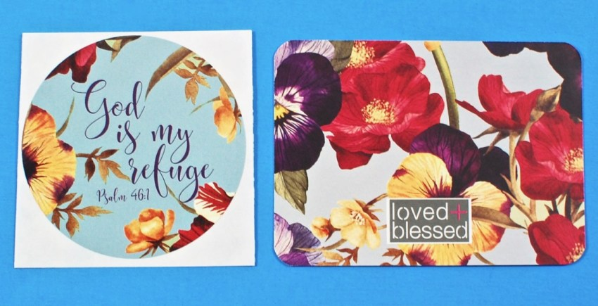 loved and blessed sticker
