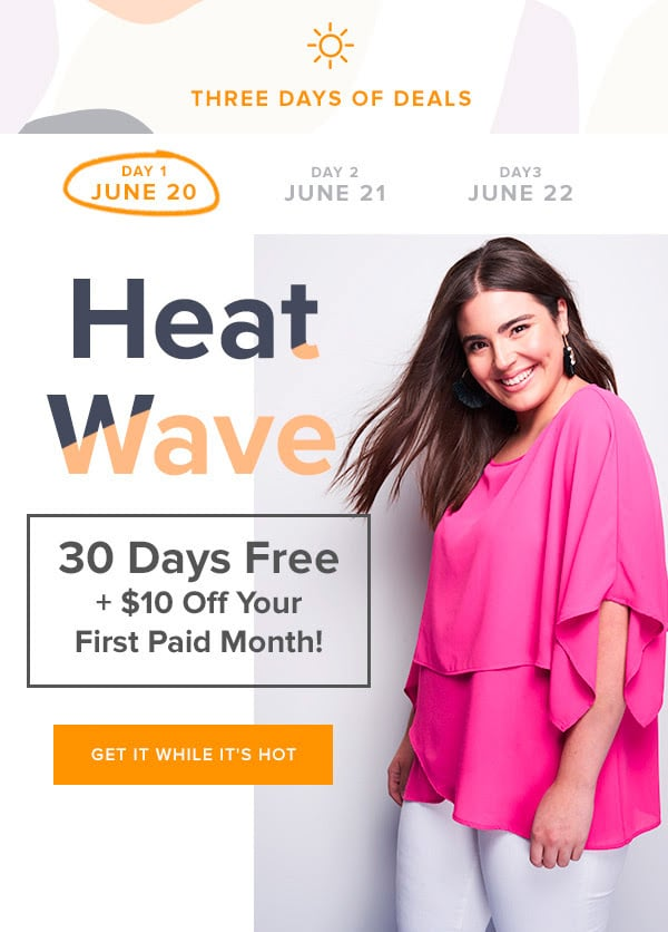 Gwynnie Bee FREE Month + FREE $10 Credit – Today Only!