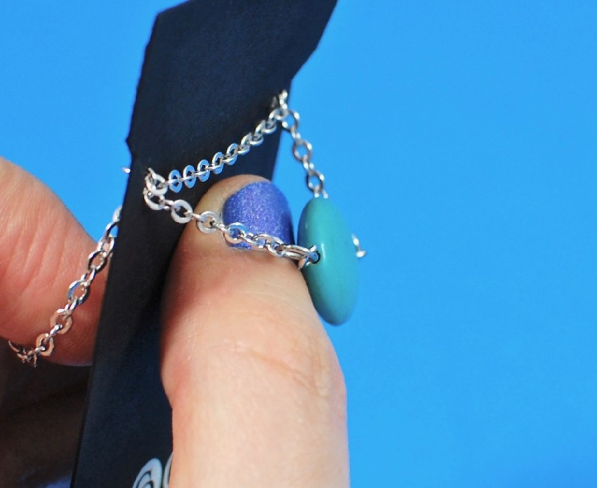 """Tatiana """"Bliss"""" 18k White Gold Plated Turquoise Necklace"""