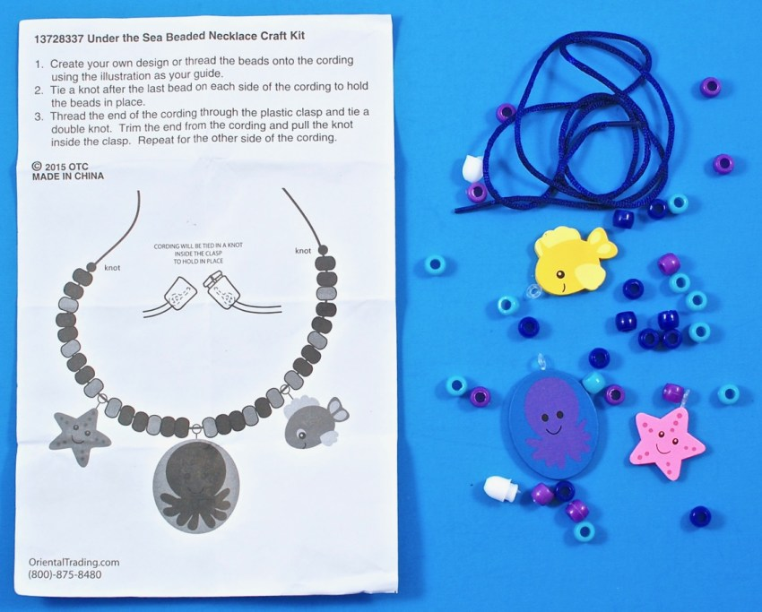 sea life necklace kit