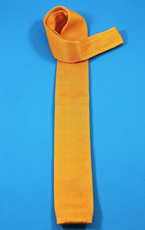 mustard yellow knit tie