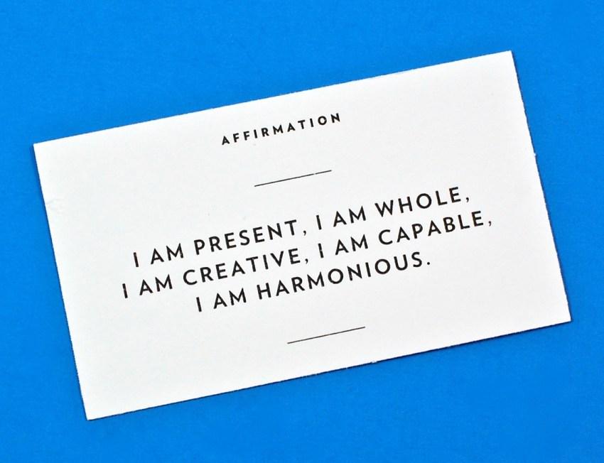 affirmation card
