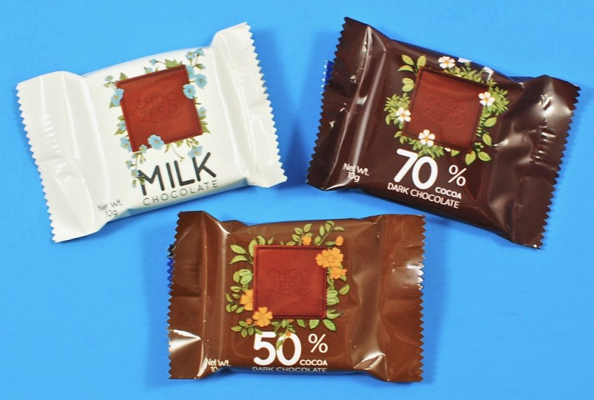 Choc Zero chocolate squares