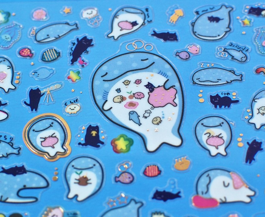 happy whale stickers
