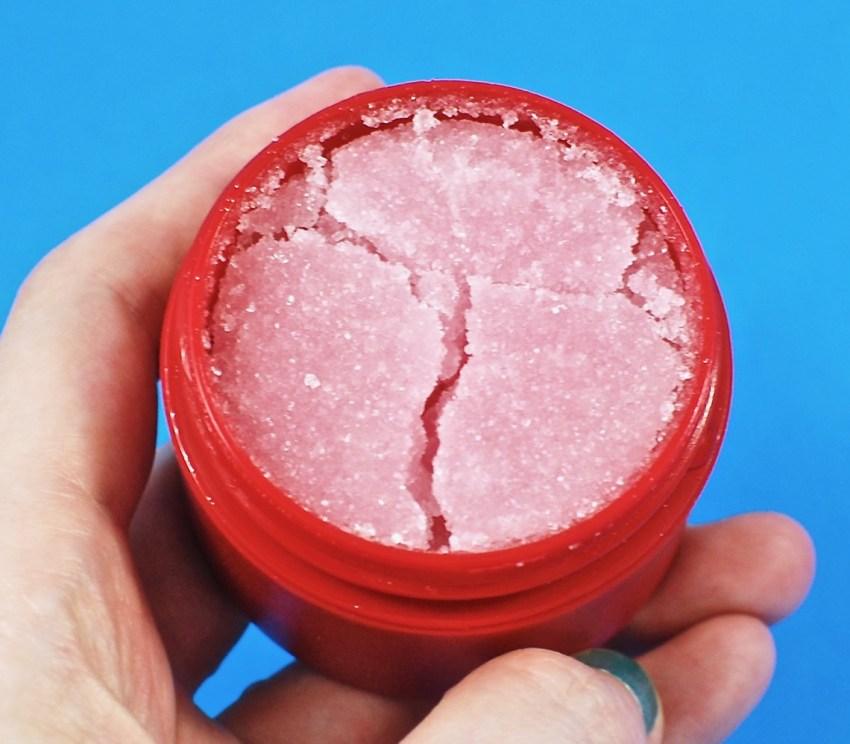 raspberry sorbet lip scrub