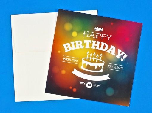 Magic birthday card