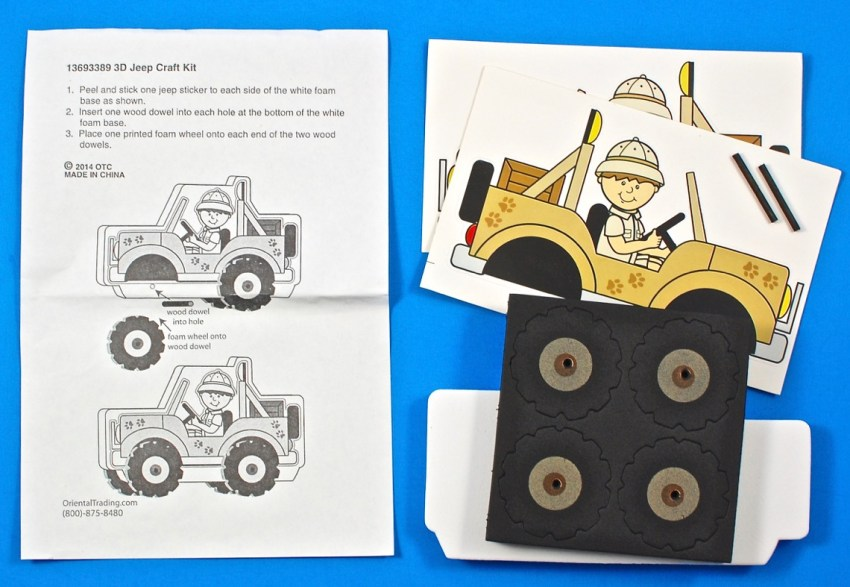Safari vehicle craft kit