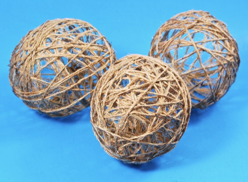 decorative twine orbs