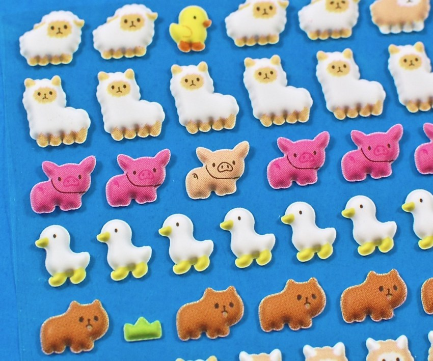 puffy animal stickers