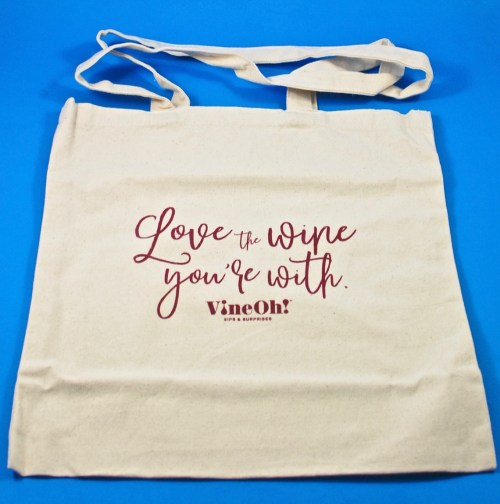 Love the Wine you're with tote