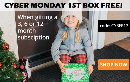 Green Kid Crafts Cyber Monday Coupon – 1st Box FREE with Gift Subscription
