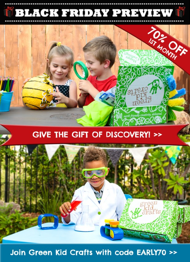 Green Kid Crafts Early Black Friday Coupon – 70% Off First Box!