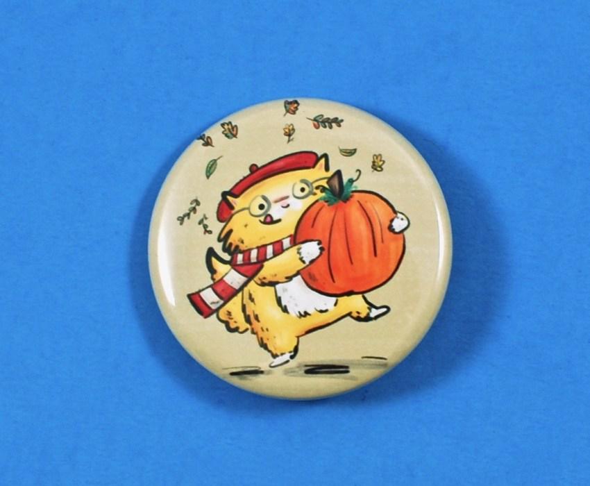 pumpkin cat pin