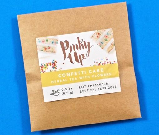 Pinky Up confetti cake tea