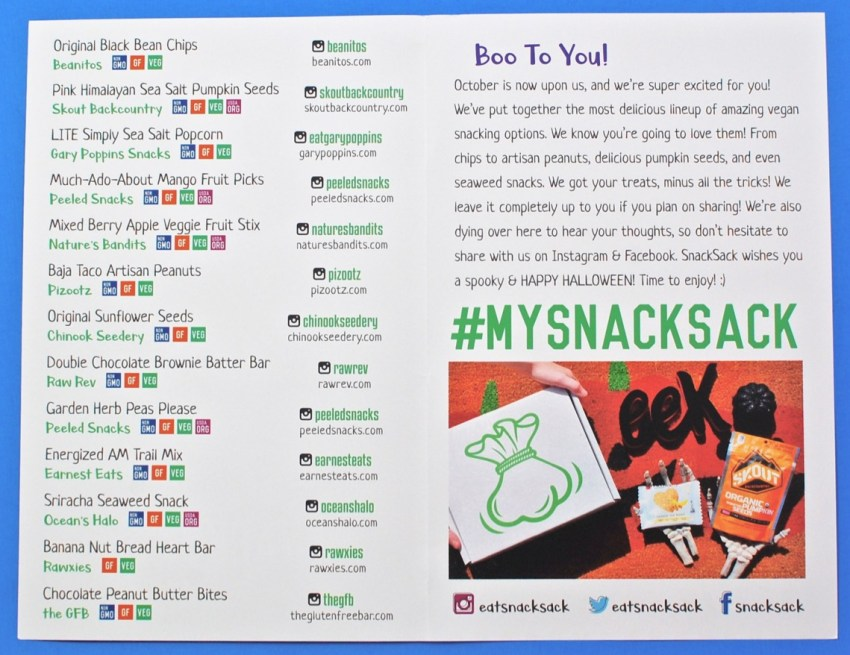 October Snack Sack review