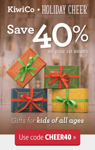Kiwi Co December 2017 Coupon Code – Save 40% on Your First Box!