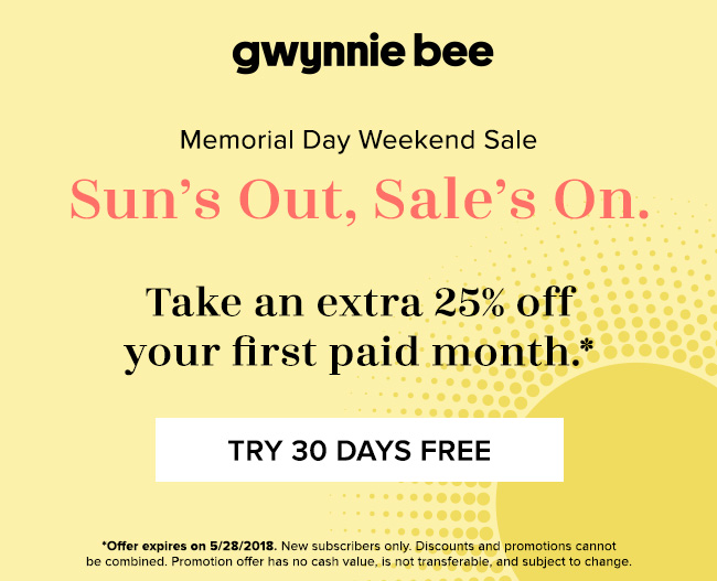 Gwynnie Bee First Month FREE + 25% Off Your Second Month!