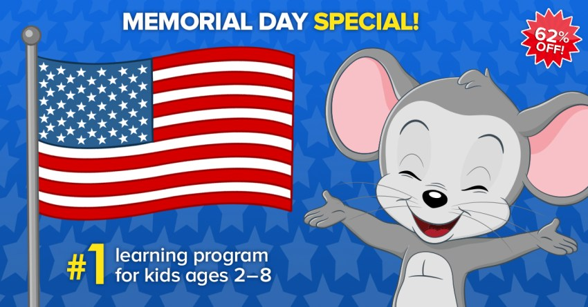 ABC Mouse Memorial Day 2018 Sale – One Year Subscription for Just $45 (Over 60% Off!)