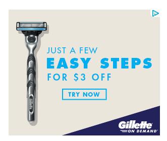 Gillette On Demand save $3