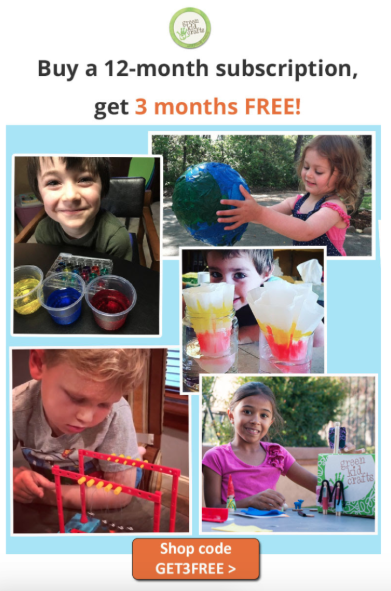 Green Kid Crafts Coupon Code – 3 FREE Boxes with Annual Subscription