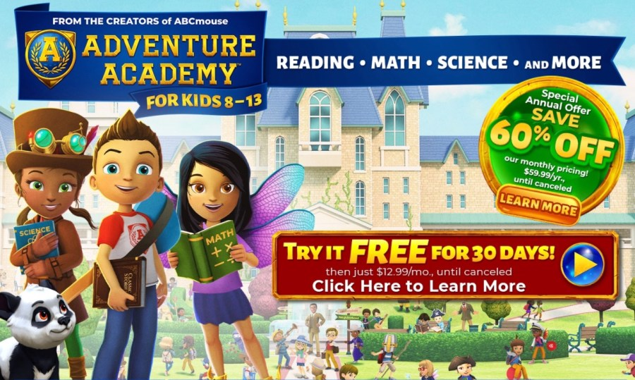 Adventure Academy - try for free