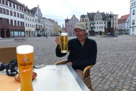 One of the many beers. This one in Wittenberg.