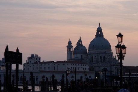 Santa Maria della Salute at sunset.
